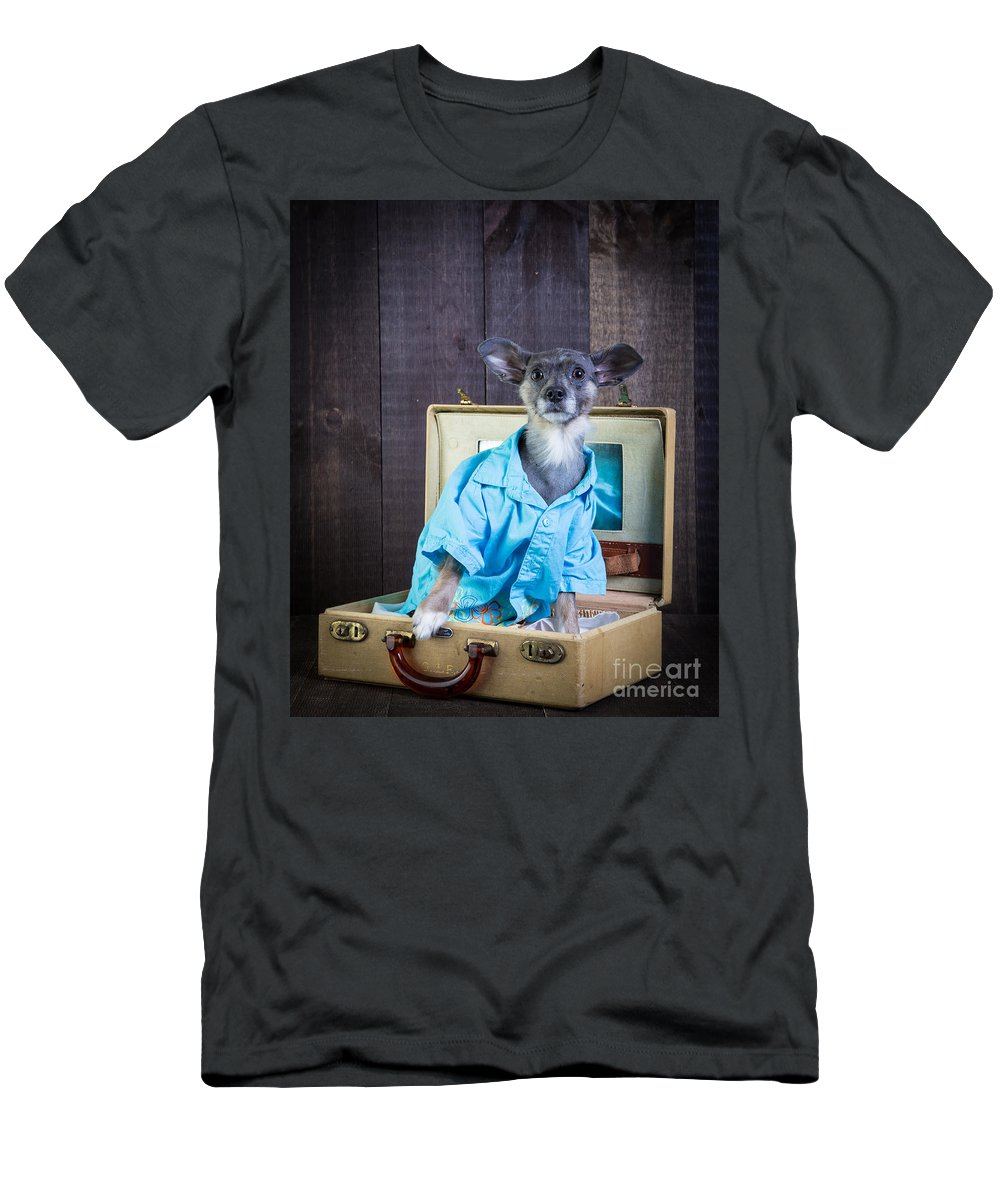 Dog Men's T-Shirt (Athletic Fit) featuring the photograph I Need A Vacation by Edward Fielding