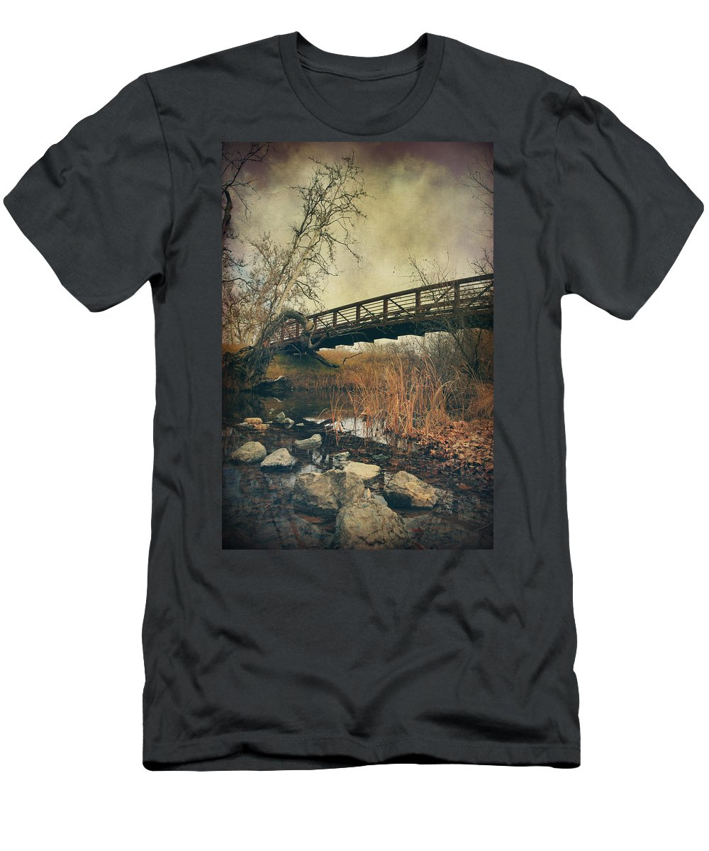 Sycamore Grove Park Men's T-Shirt (Athletic Fit) featuring the photograph I Tried To Forget You by Laurie Search