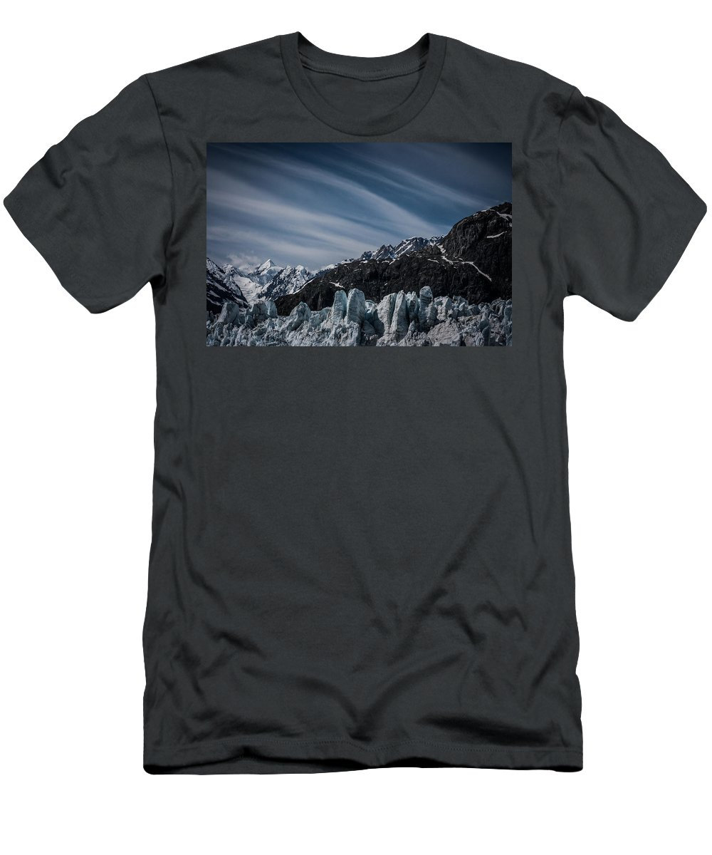 Margerie Men's T-Shirt (Athletic Fit) featuring the photograph Ice And Sky With My Little Eye by Dayne Reast