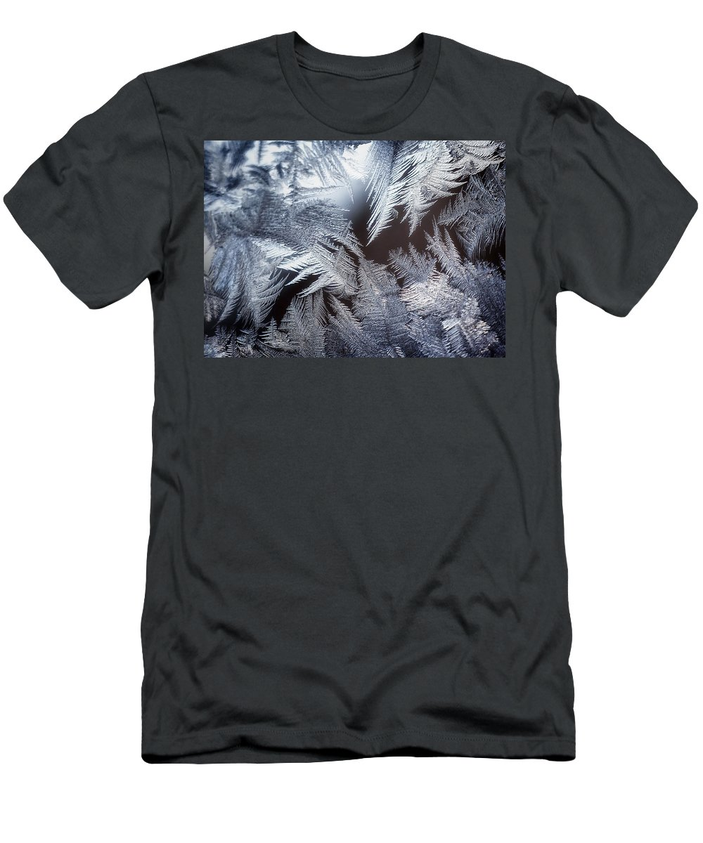 Ice Men's T-Shirt (Athletic Fit) featuring the photograph Ice Crystals by Scott Norris