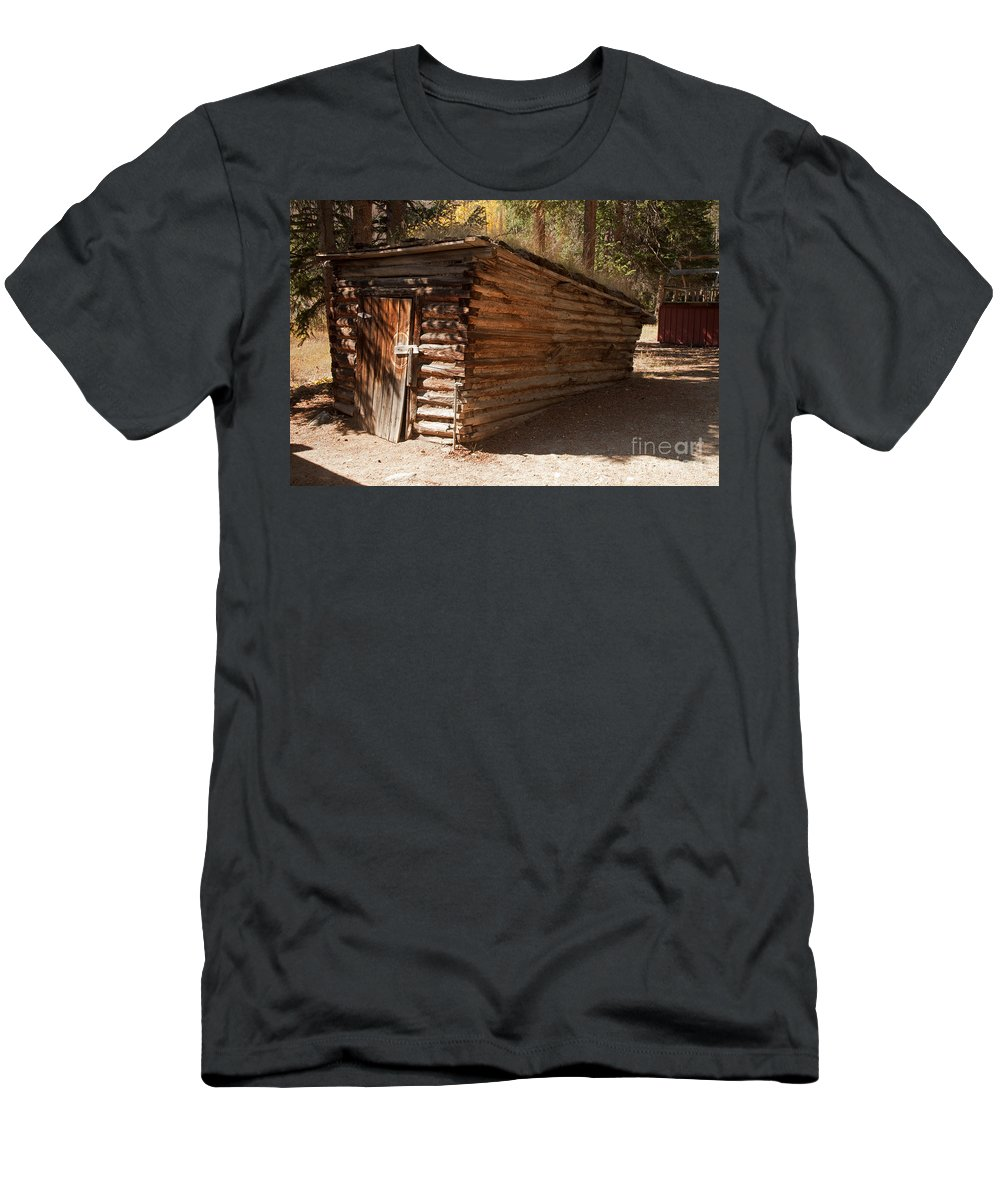 Afternoon Men's T-Shirt (Athletic Fit) featuring the photograph Ice House At The Holzwarth Historic Site by Fred Stearns