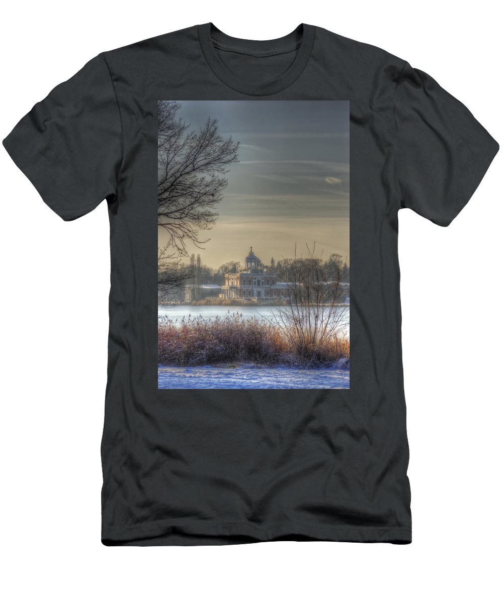 Antique Men's T-Shirt (Athletic Fit) featuring the digital art Ice Palace by Nathan Wright