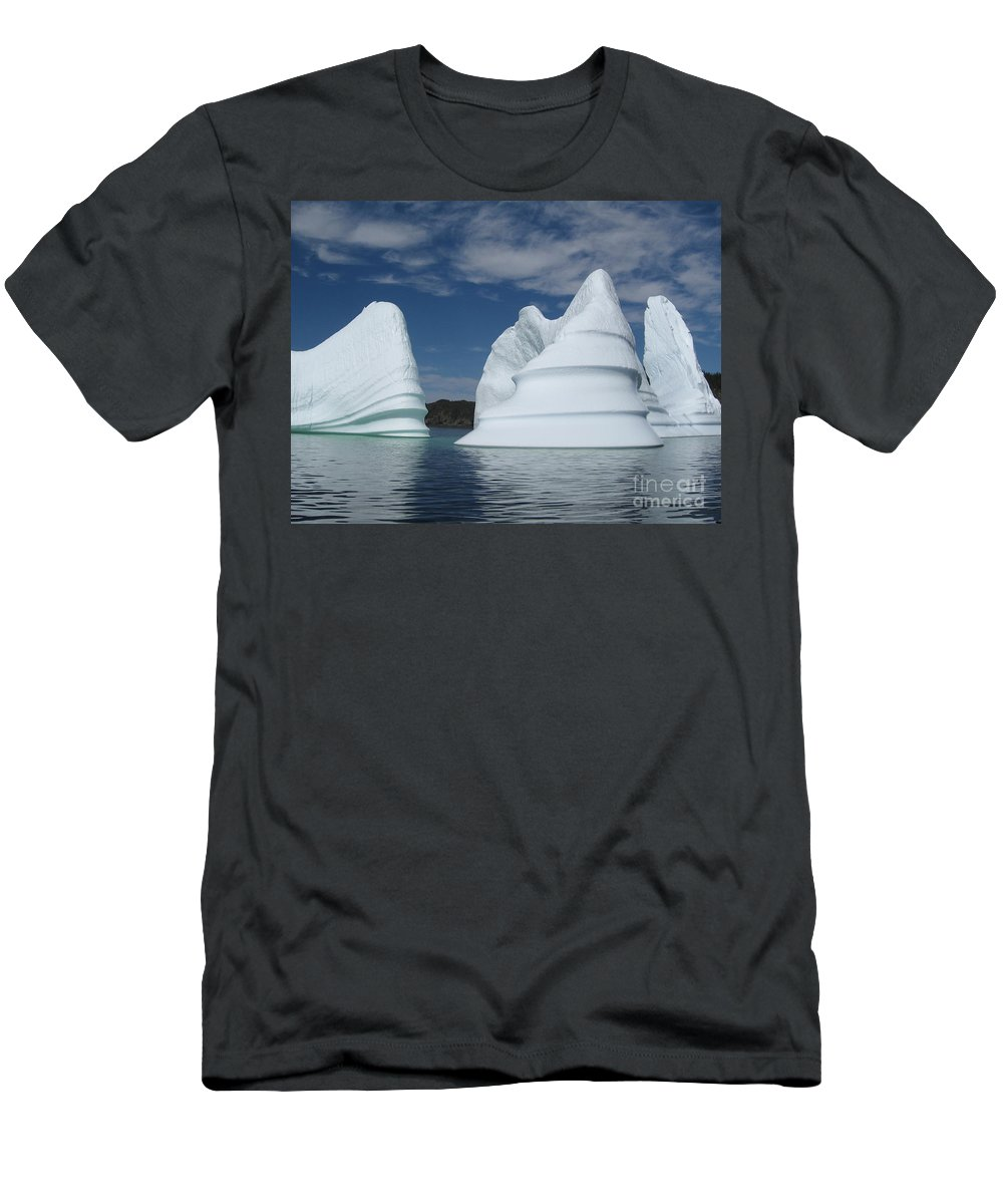 Iceberg Newfoundland Men's T-Shirt (Athletic Fit) featuring the photograph Icebergs by Seon-Jeong Kim