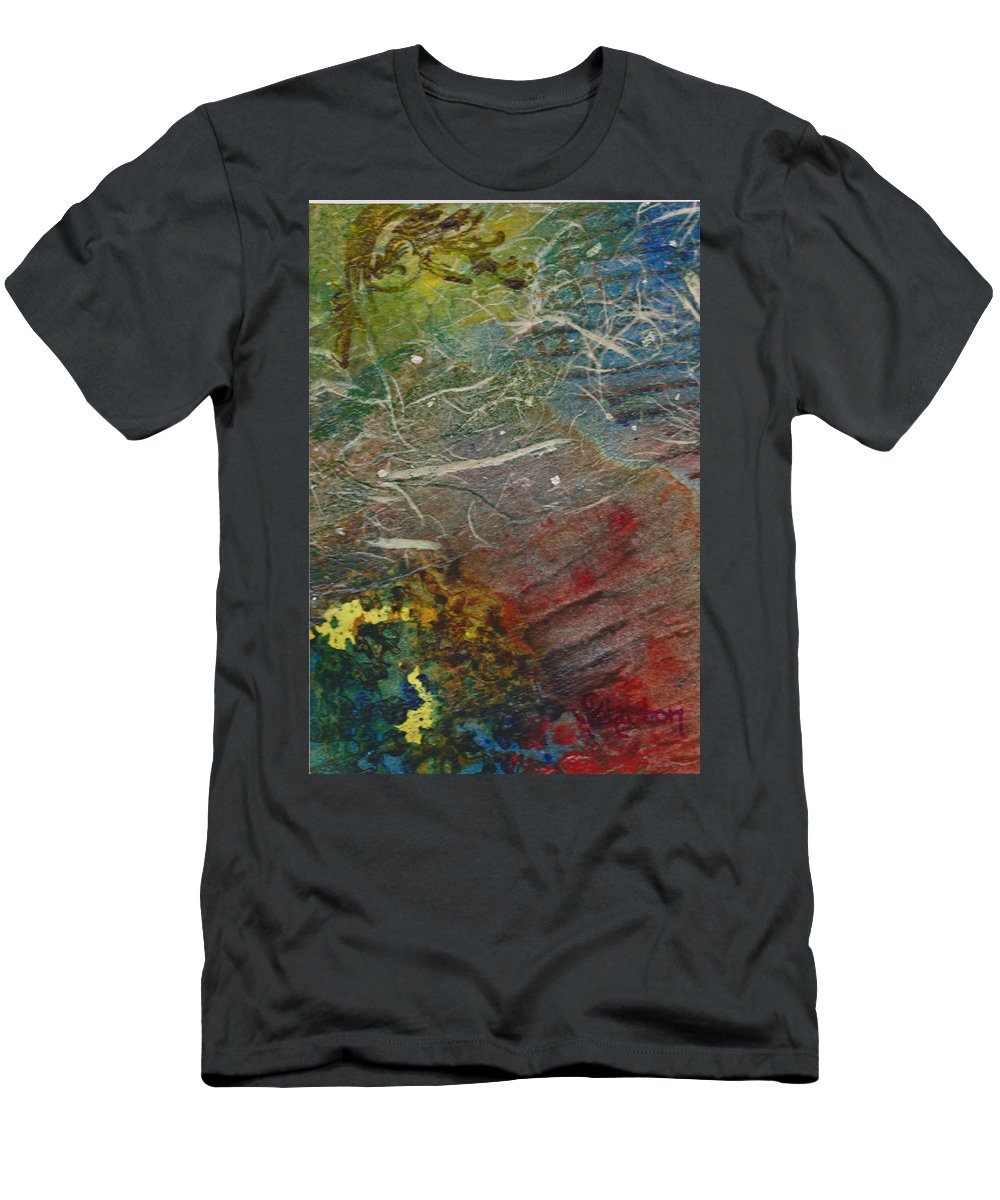 Know Men's T-Shirt (Athletic Fit) featuring the mixed media If I Had Only Known by Cindy Johnston