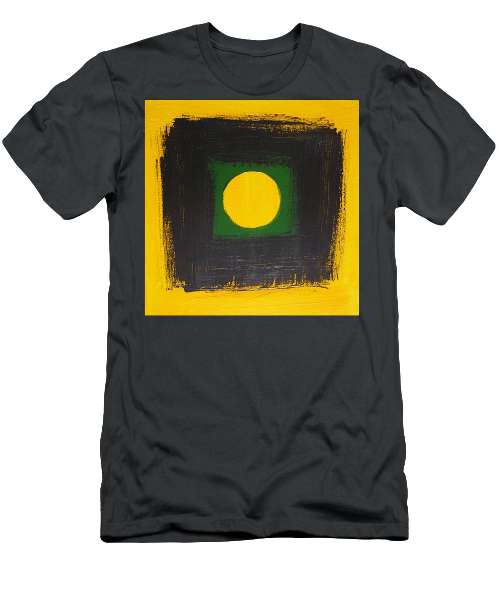 Abstract Men's T-Shirt (Athletic Fit) featuring the painting Illusion by Kimberly Maxwell Grantier