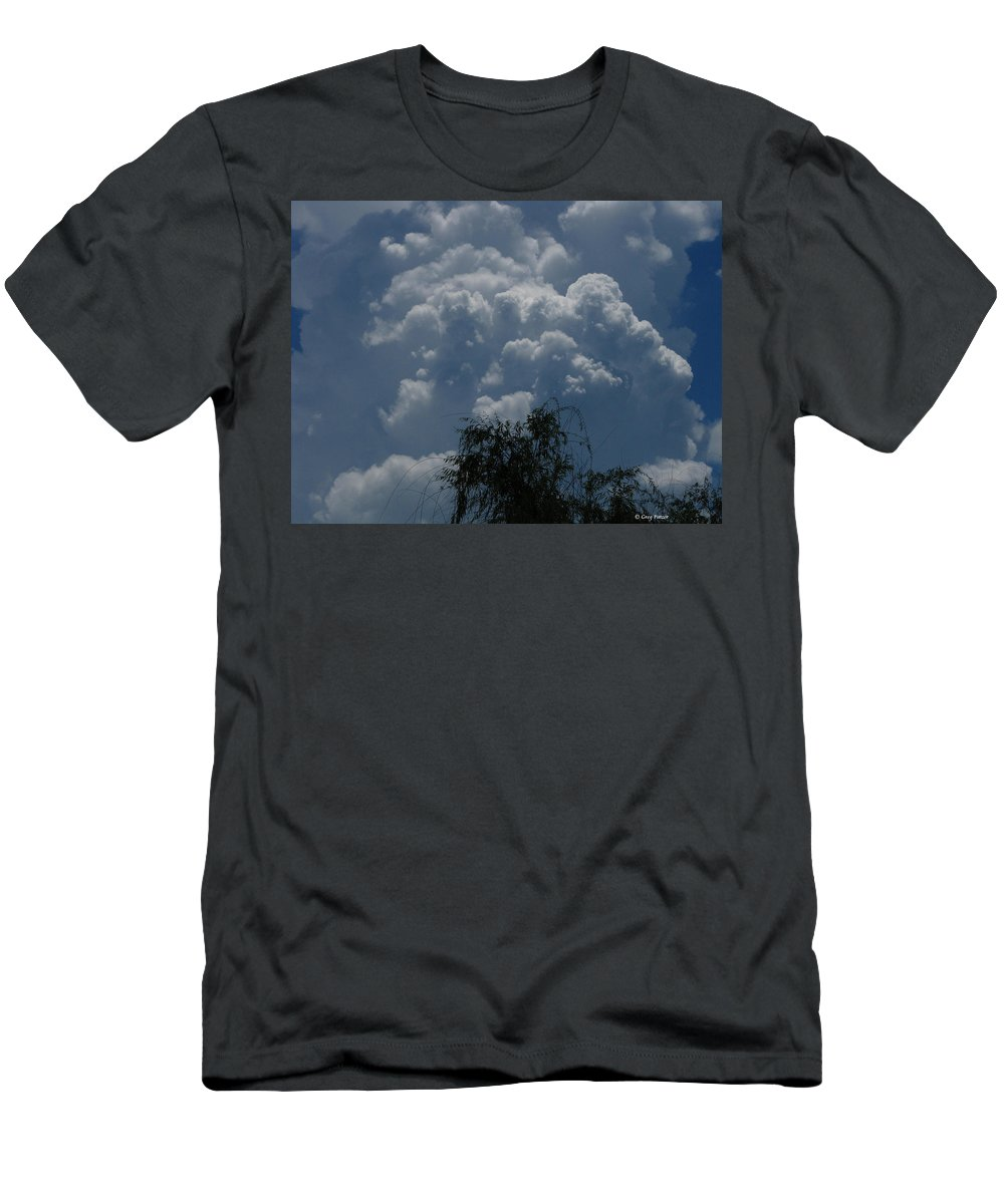 Patzer Men's T-Shirt (Athletic Fit) featuring the photograph I'm Thinking Rain by Greg Patzer