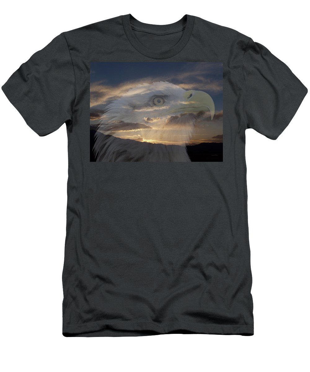 Animals Men's T-Shirt (Athletic Fit) featuring the photograph Imagine by Ernie Echols