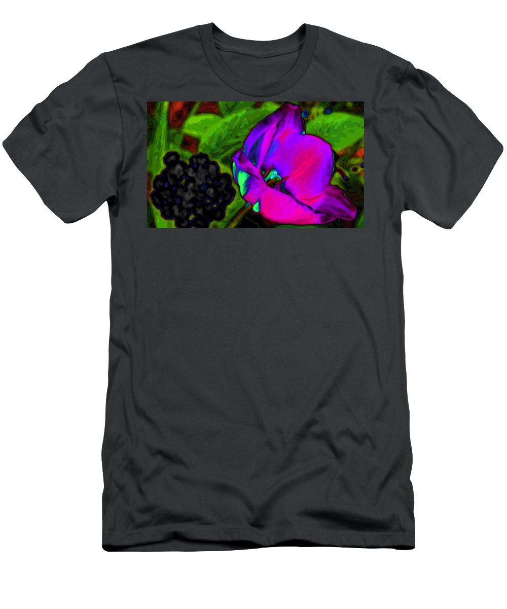 Tulips Men's T-Shirt (Athletic Fit) featuring the digital art Imagine by Kristie Bonnewell