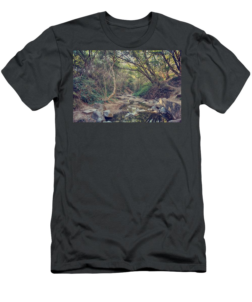Alvarado Park Men's T-Shirt (Athletic Fit) featuring the photograph In A Fairytale by Laurie Search
