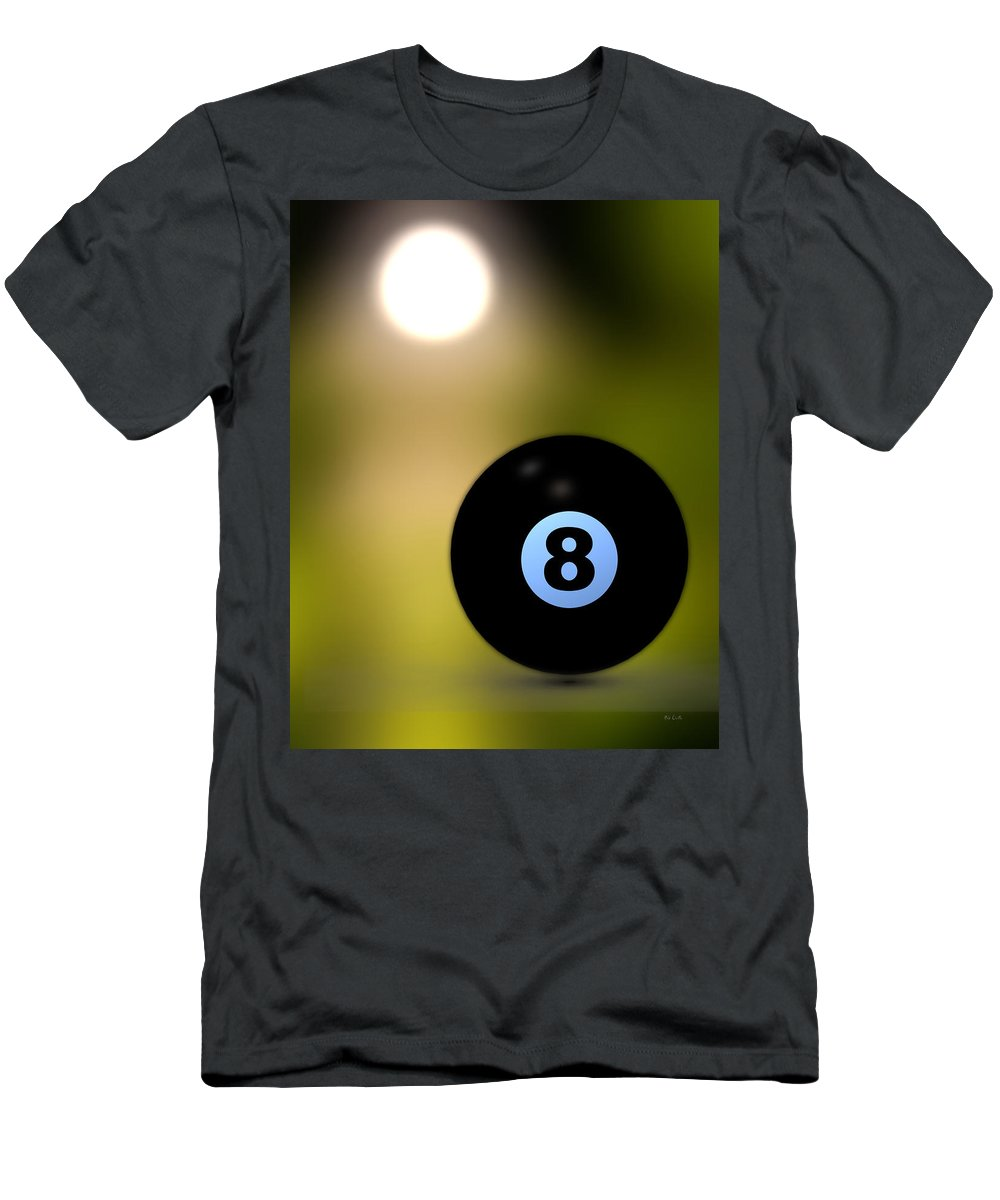 8 Ball Men's T-Shirt (Athletic Fit) featuring the photograph In Front Of The Eight Ball by Bob Orsillo