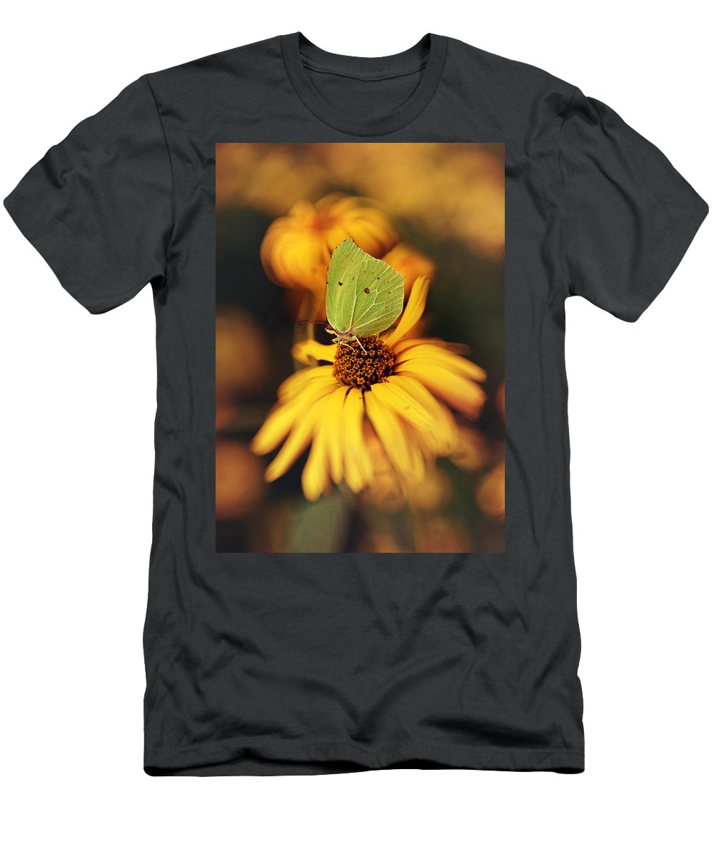 Macrophotography Men's T-Shirt (Athletic Fit) featuring the photograph In My Garden by Jaroslaw Blaminsky