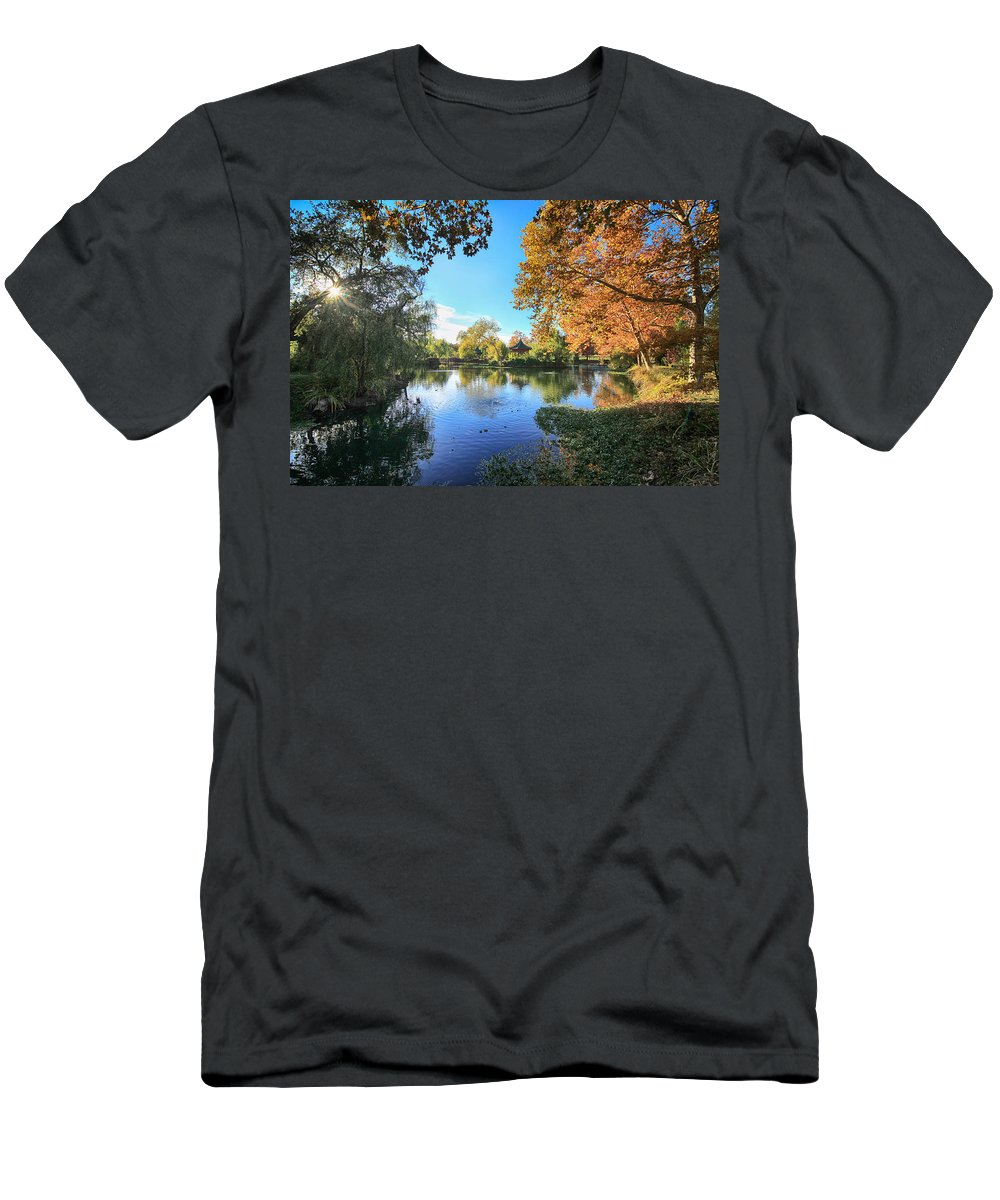 Chateau Montelena Men's T-Shirt (Athletic Fit) featuring the photograph In Our Own Special World by Laurie Search