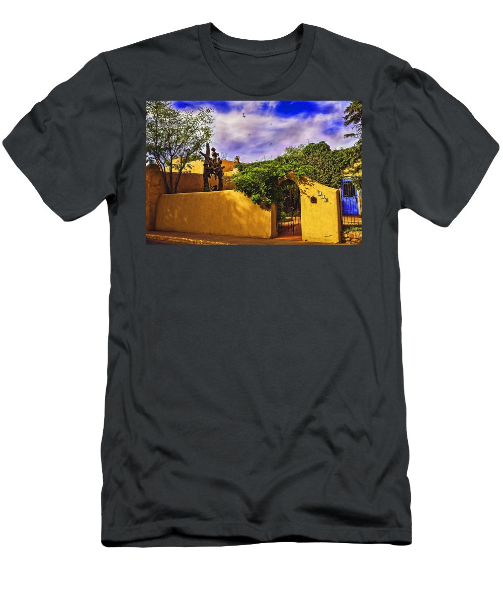 Santa Fe Men's T-Shirt (Athletic Fit) featuring the photograph In Santa Fe - New Mexico by Madeline Ellis