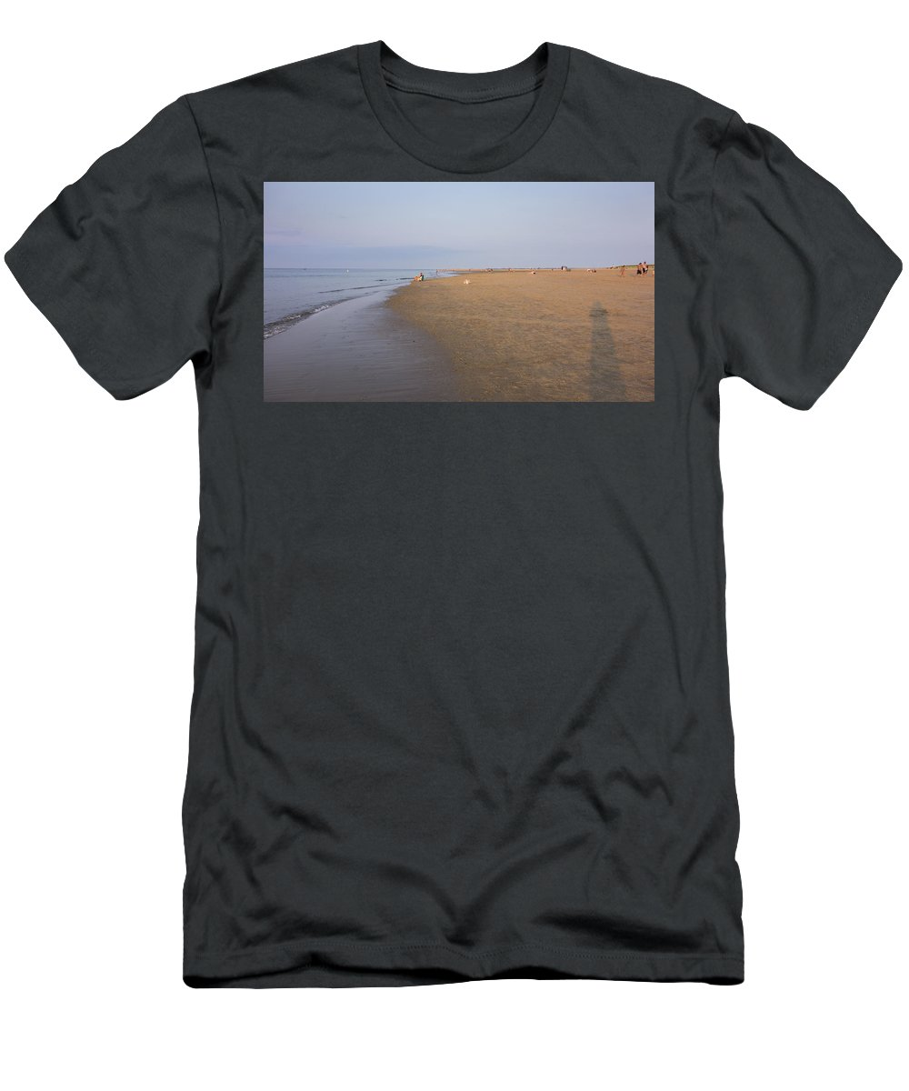 Ipswich Men's T-Shirt (Athletic Fit) featuring the photograph In The Time Of The Long Shadows by David Stone