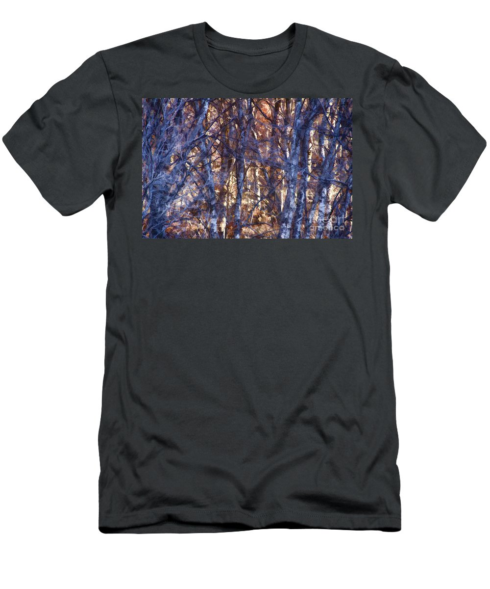 Woods Men's T-Shirt (Athletic Fit) featuring the photograph In The Woods V5 by Douglas Barnard