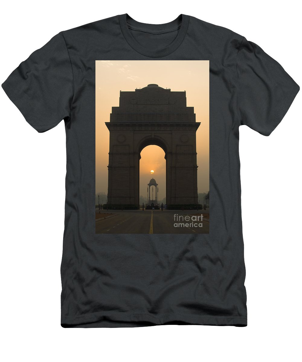 Asia Men's T-Shirt (Athletic Fit) featuring the photograph India Gate, Delhi by John Shaw