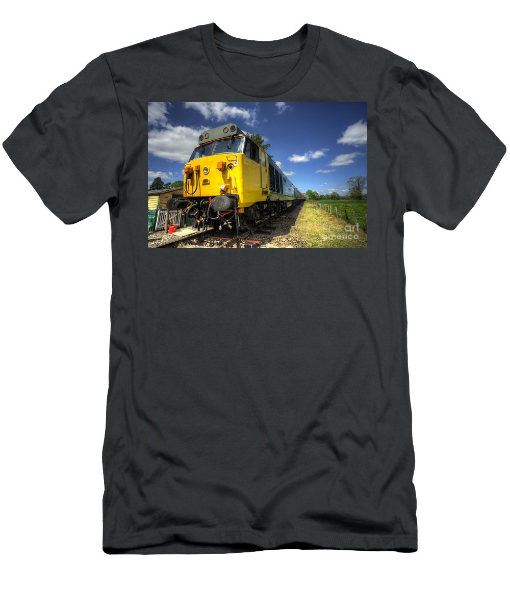 Indomitable Men's T-Shirt (Athletic Fit) featuring the photograph Indomitable At Wymondonham by Rob Hawkins
