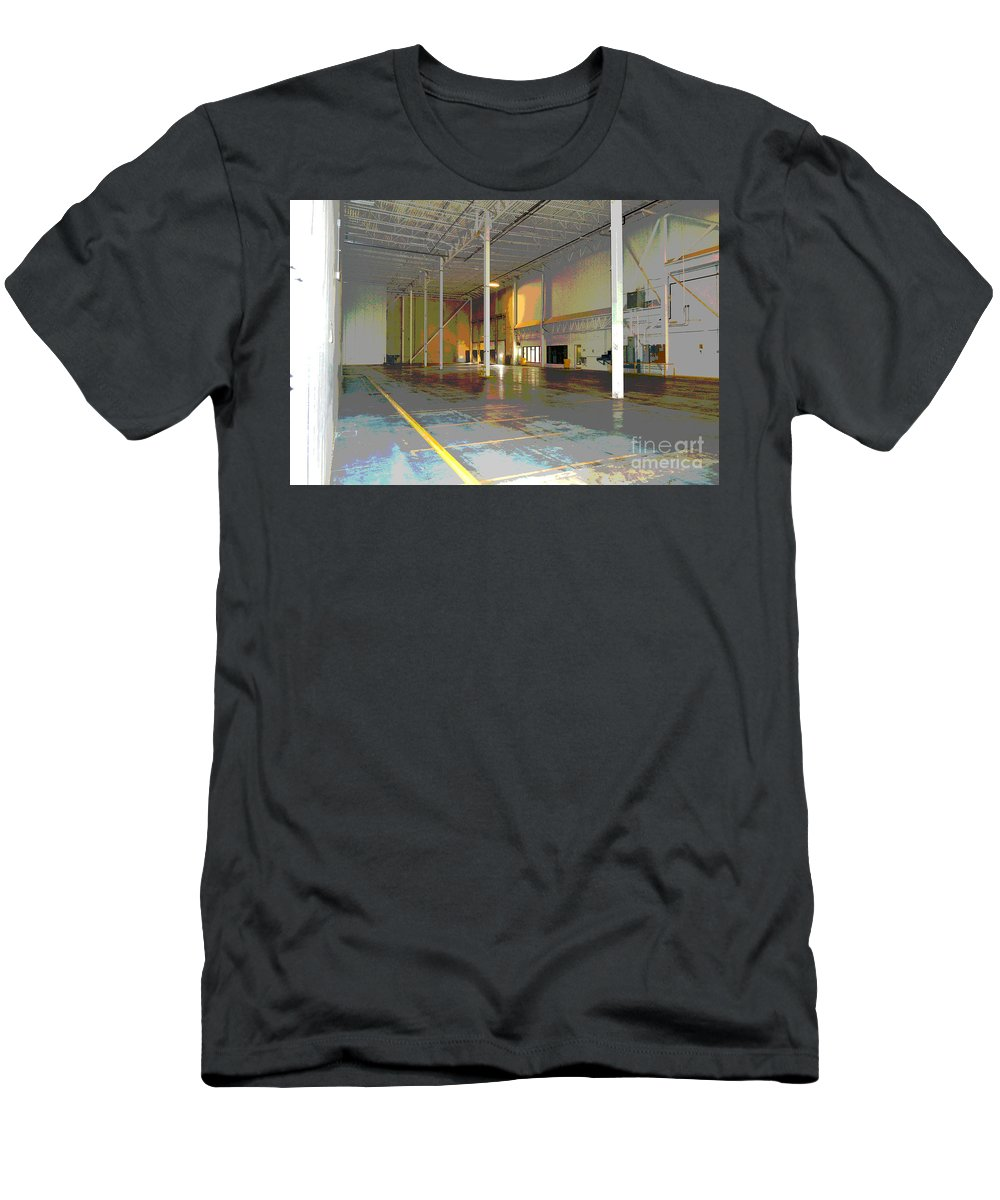 Industrial Men's T-Shirt (Athletic Fit) featuring the photograph Industrial 2 by Alys Caviness-Gober