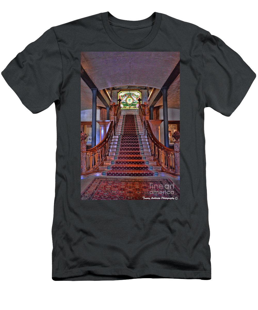 Inglenook Vineyard Men's T-Shirt (Athletic Fit) featuring the photograph Inglenook Vineyard -5 by Tommy Anderson