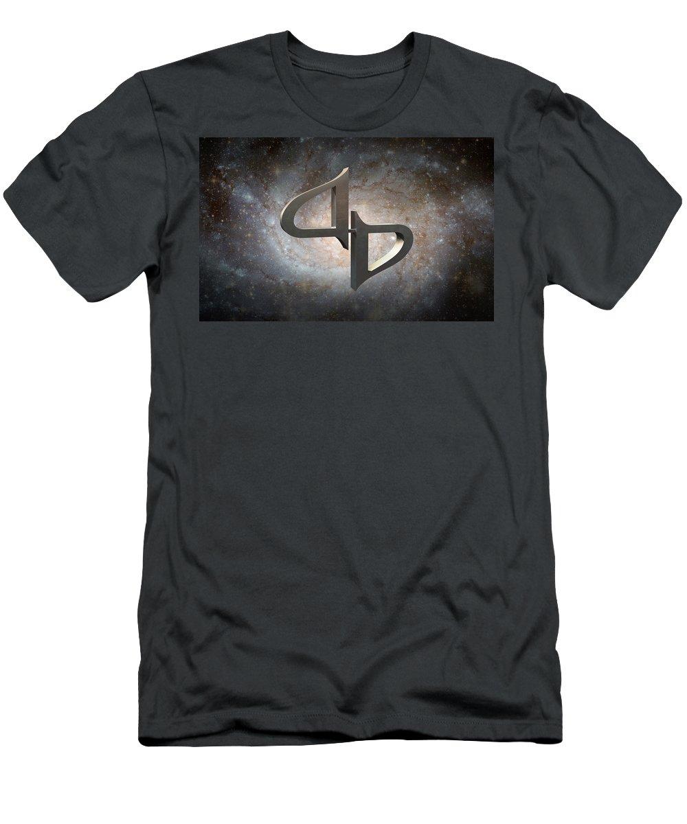 Galaxy Travel Men's T-Shirt (Athletic Fit) featuring the digital art Interstellar Journeys 2 by Elle Nicolai