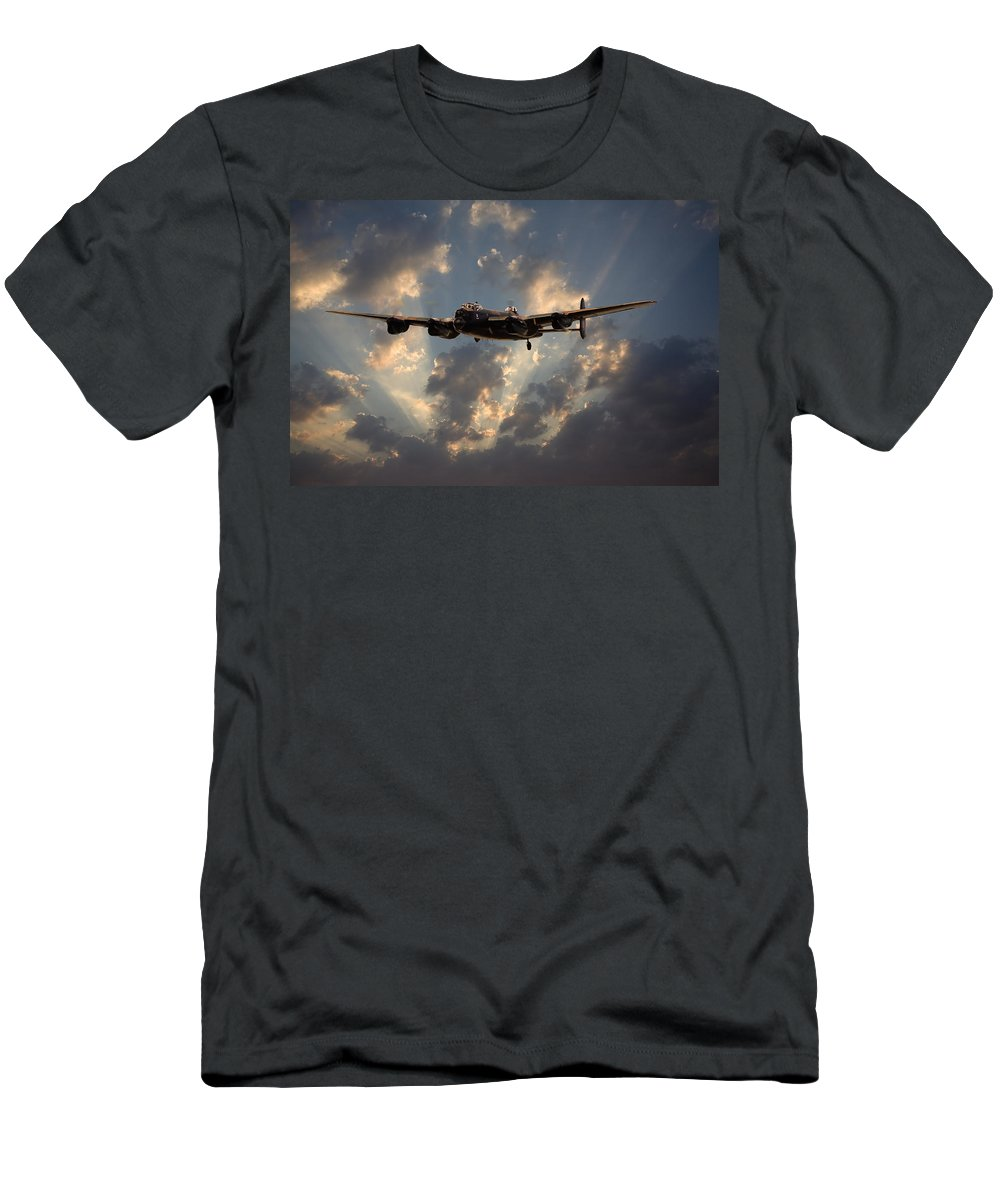 Aircraft Men's T-Shirt (Athletic Fit) featuring the digital art Into The Night by Pat Speirs