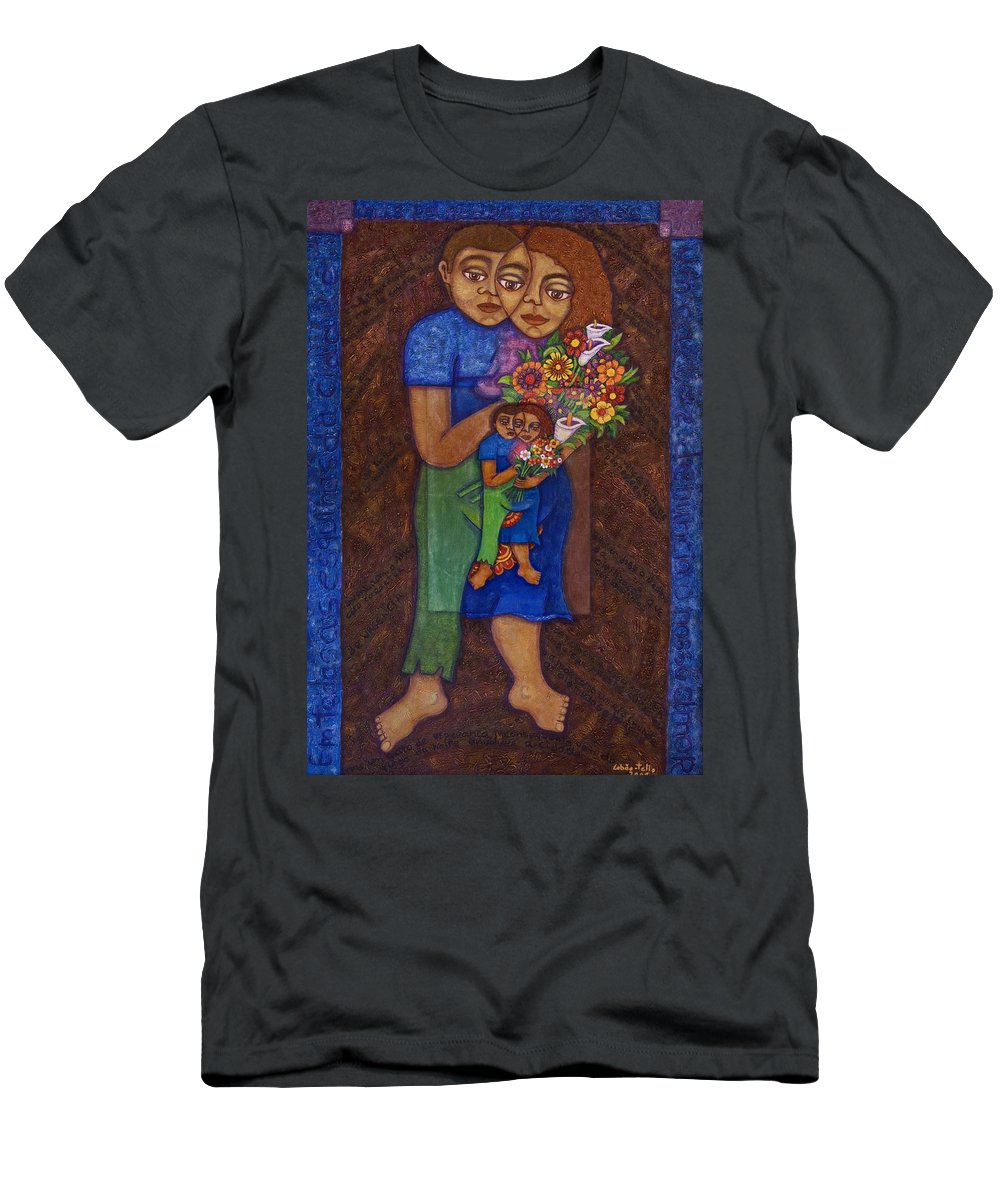 Invention Of Love Men's T-Shirt (Athletic Fit) featuring the painting Invention Of Love by Madalena Lobao-Tello