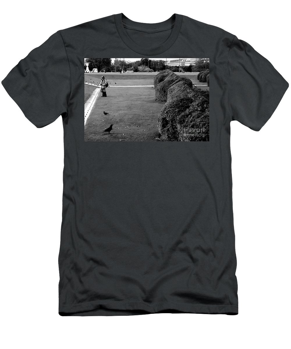 Homeless Men's T-Shirt (Athletic Fit) featuring the photograph Invisible Tourist by Donato Iannuzzi