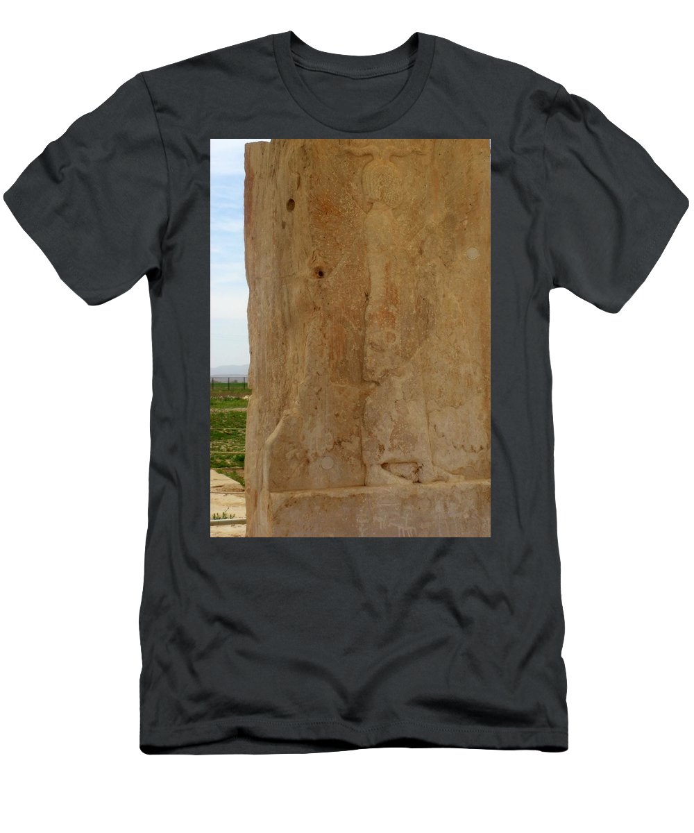 Cyrus The Great. Pasargadae Men's T-Shirt (Athletic Fit) featuring the photograph Iran Cyrus The Great by Lois Ivancin Tavaf