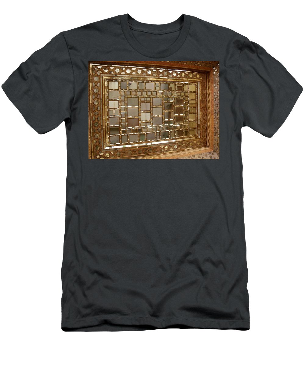 Forty Columns Men's T-Shirt (Athletic Fit) featuring the photograph Iran Isfahan Forty Columns by Lois Ivancin Tavaf