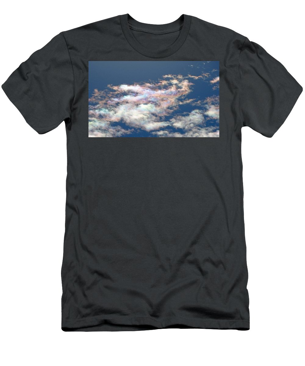 Cloud Men's T-Shirt (Athletic Fit) featuring the photograph Iridescent Clouds by Greg Boutz