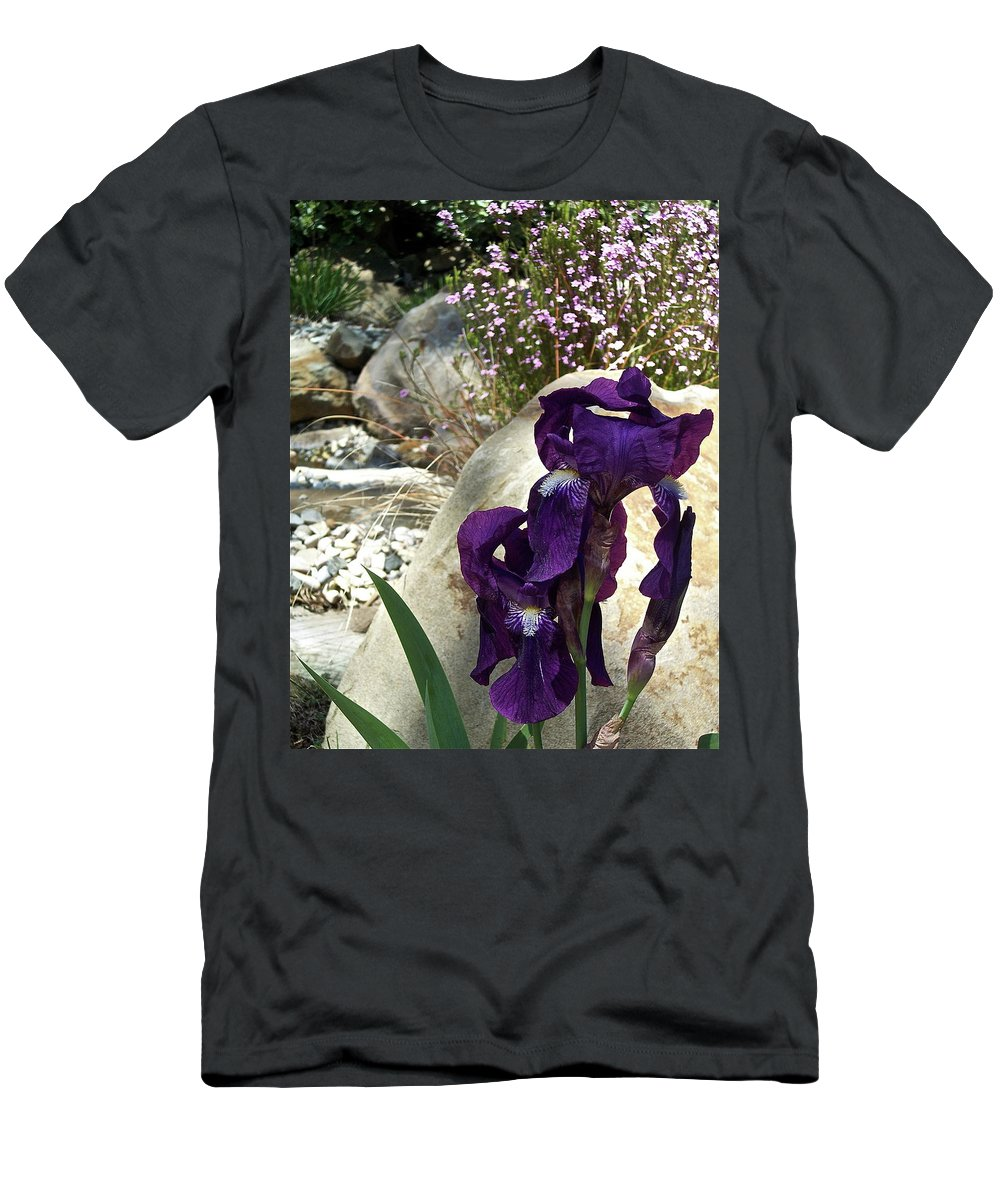 Flowers Men's T-Shirt (Athletic Fit) featuring the photograph Iris 14 by Pamela Cooper
