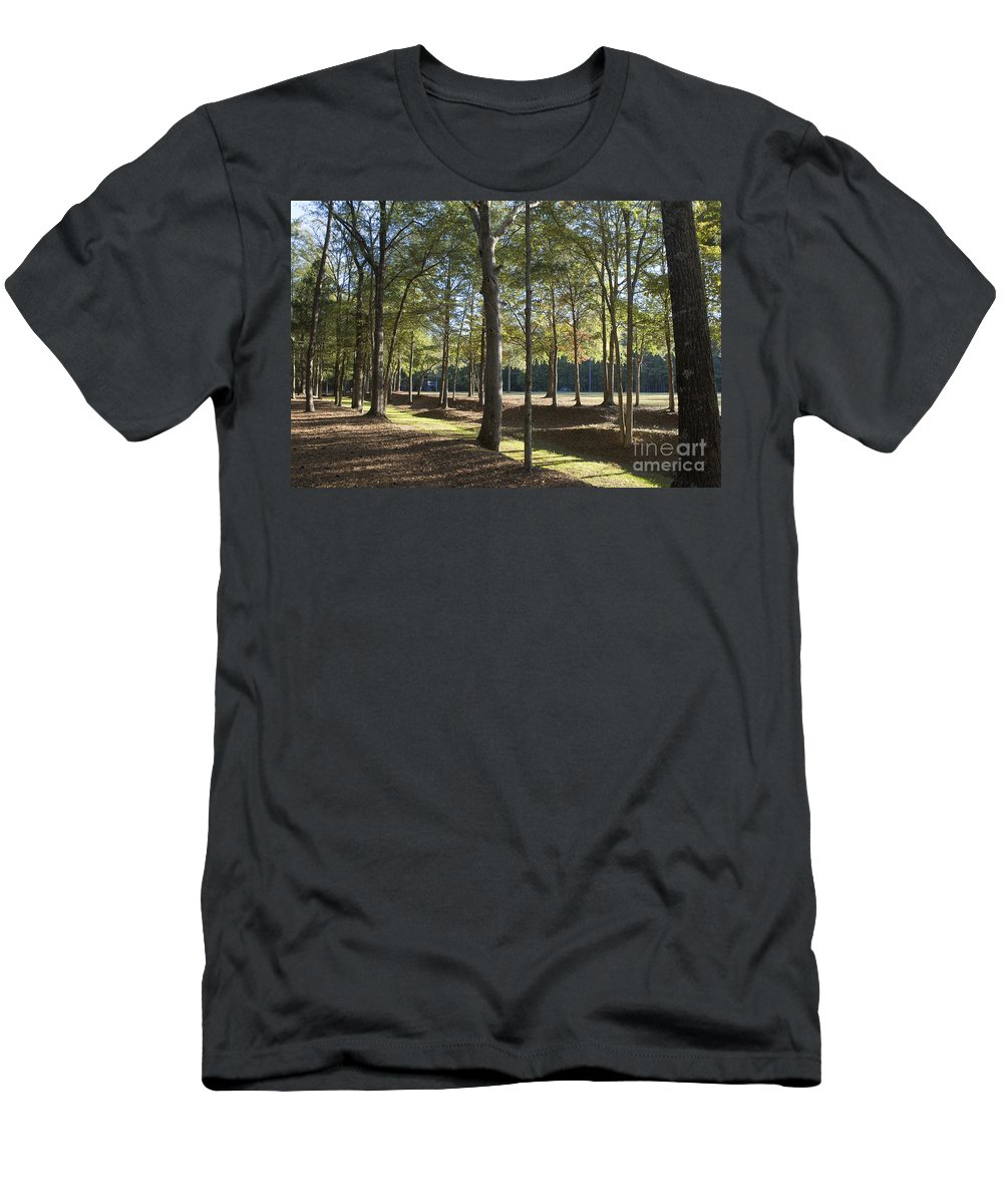 Island Fort Road Men's T-Shirt (Athletic Fit) featuring the photograph Island Fort Road Ninety Six National Historic Site by Jason O Watson