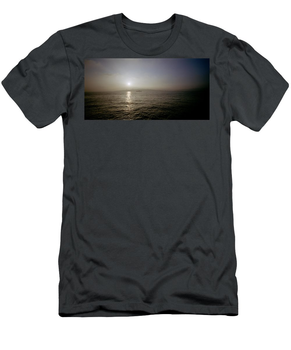 Sunset Men's T-Shirt (Athletic Fit) featuring the photograph Istanbul Dusk by Shaun Higson