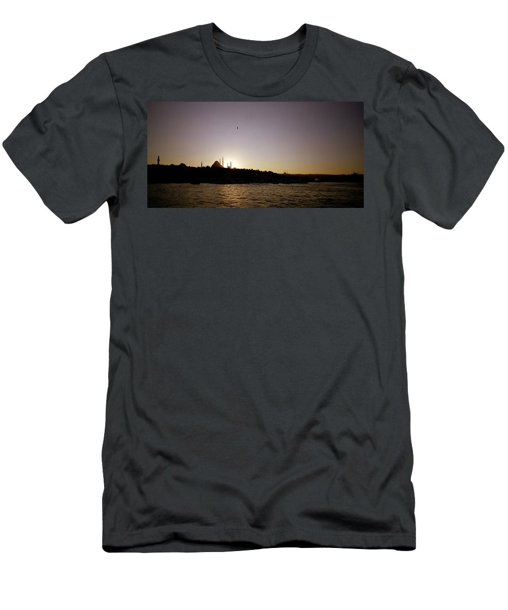 Istanbul Men's T-Shirt (Athletic Fit) featuring the photograph Istanbul Sunset by Shaun Higson