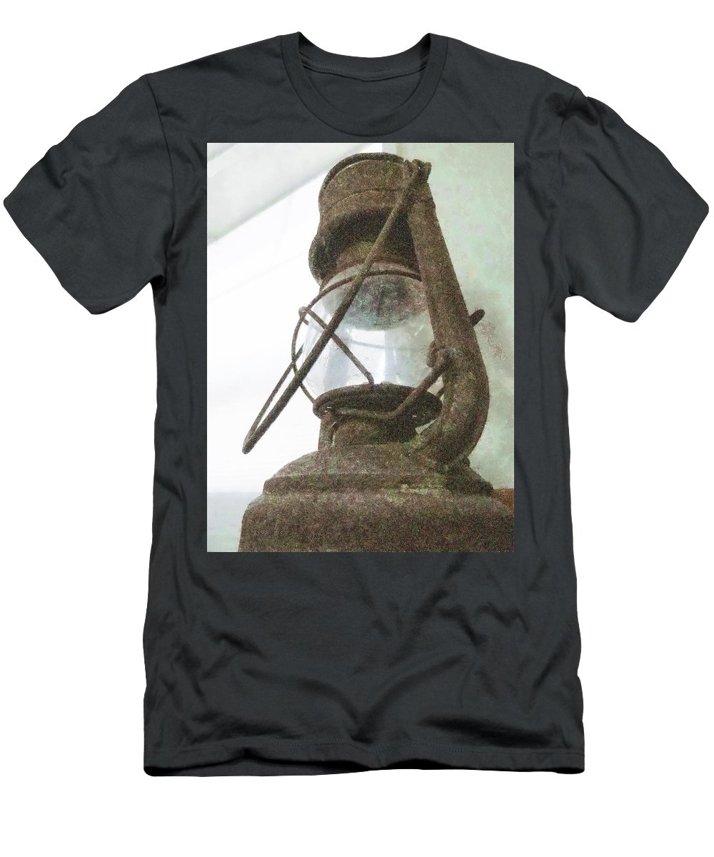 Lamp Men's T-Shirt (Athletic Fit) featuring the photograph It No Longer Shines by Steve Taylor