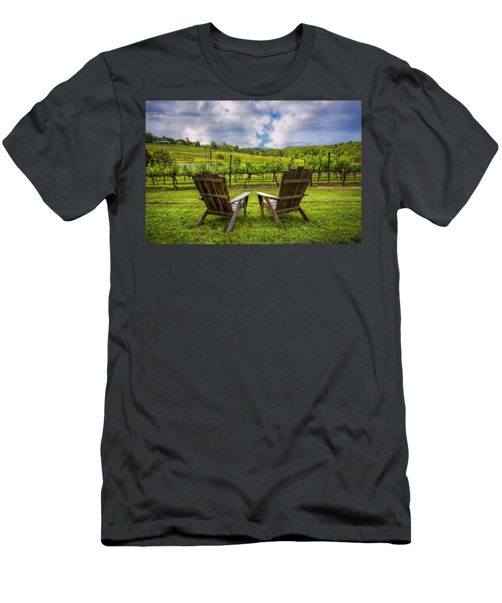 Appalachia Men's T-Shirt (Athletic Fit) featuring the photograph It's Happy Hour by Debra and Dave Vanderlaan
