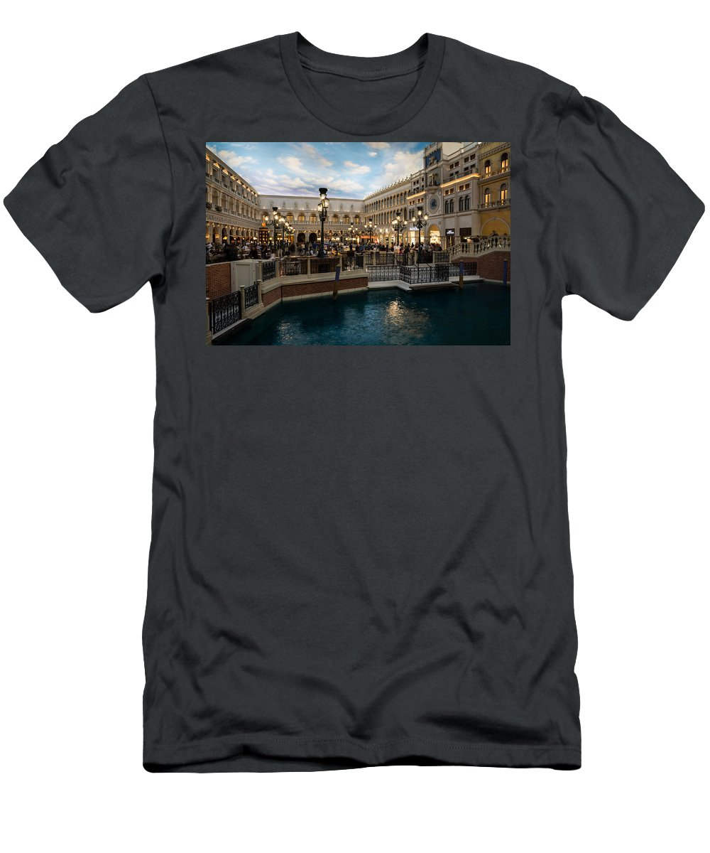 Venetian Men's T-Shirt (Athletic Fit) featuring the photograph It's Not Venice by Georgia Mizuleva