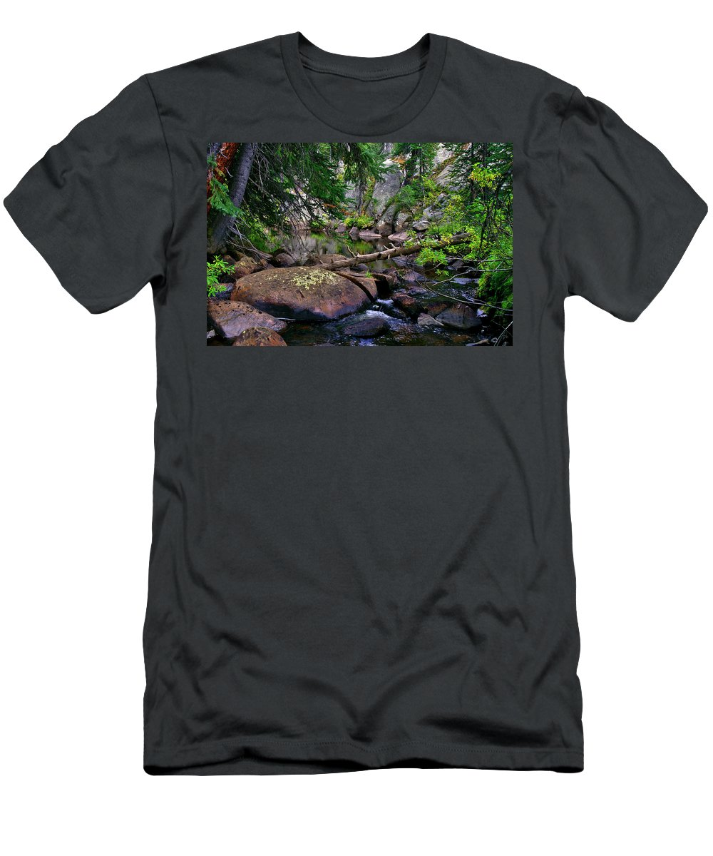 Ivanhoe Serenity Men's T-Shirt (Athletic Fit) featuring the photograph Ivanhoe Serenity by Jeremy Rhoades