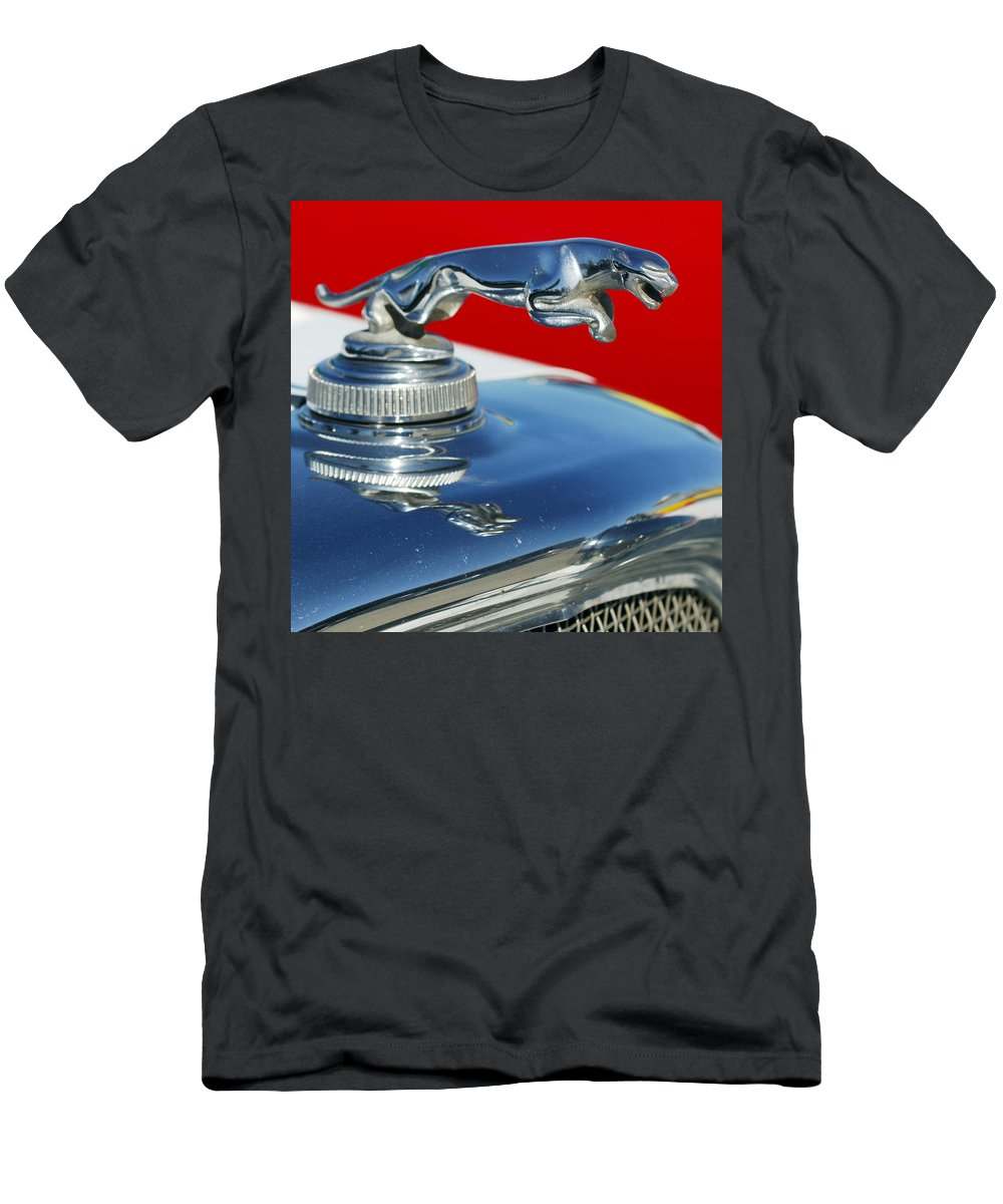 Jaguar Hood Ornament Men's T-Shirt (Athletic Fit) featuring the photograph Jaguar Hood Ornament 2 by Jill Reger
