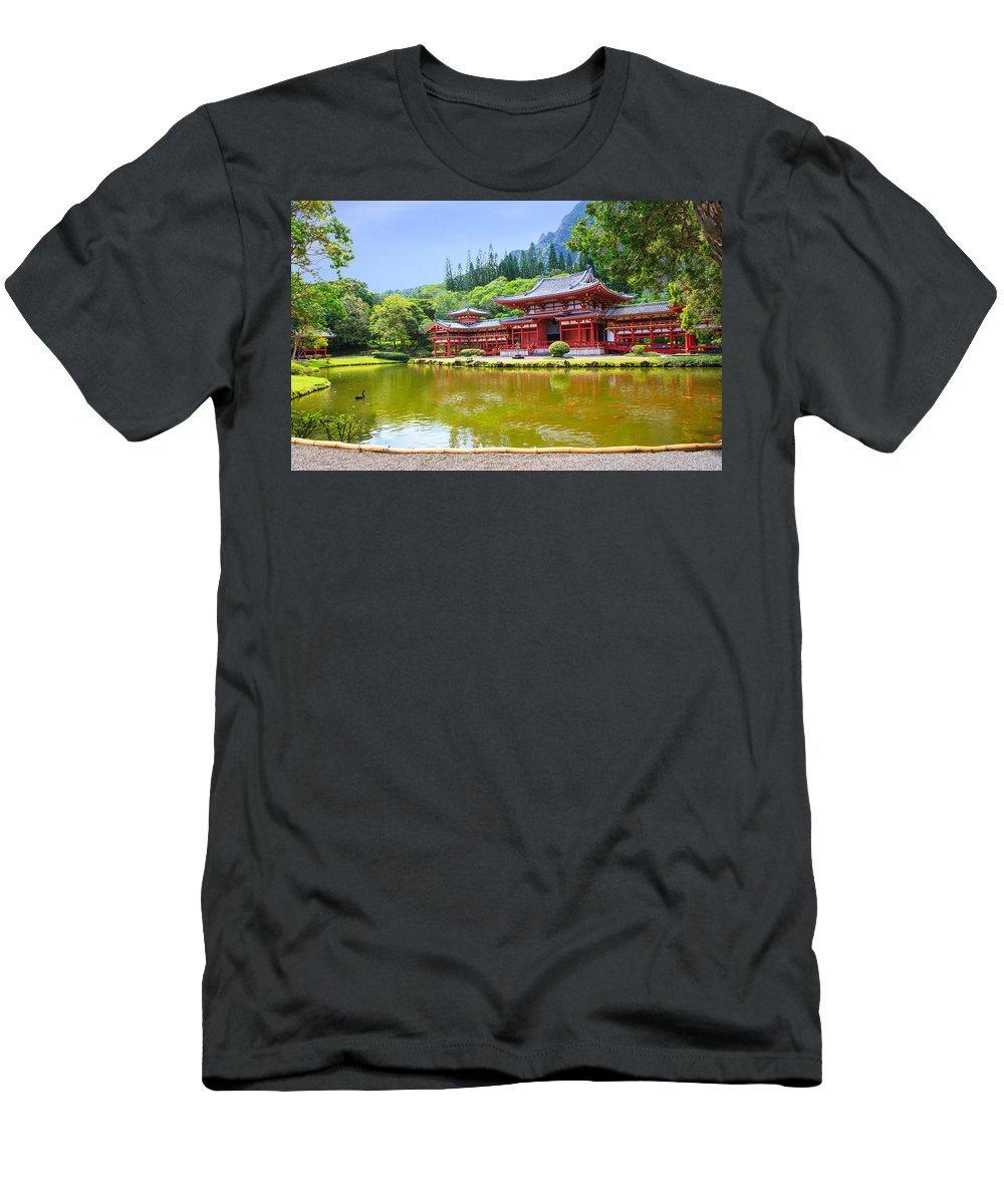 Ancient Men's T-Shirt (Athletic Fit) featuring the photograph Japanese Byodoin Temple by Ami Parikh