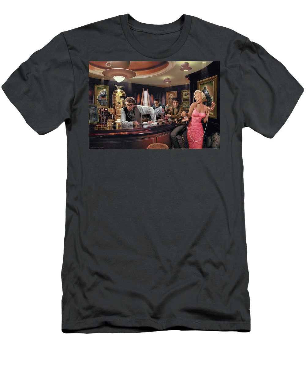 Marilyn Monroe T-Shirt featuring the painting Java Dreams by Chris Consani