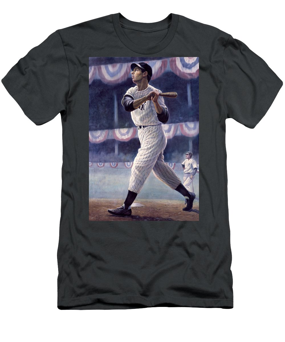 Joe Dimaggio Men s T-Shirt (Athletic Fit) featuring the painting Joe  Dimaggio by 3dd2ab4a831