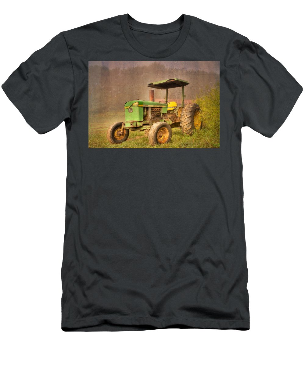 2440 Men's T-Shirt (Athletic Fit) featuring the photograph John Deere 2440 by Debra and Dave Vanderlaan