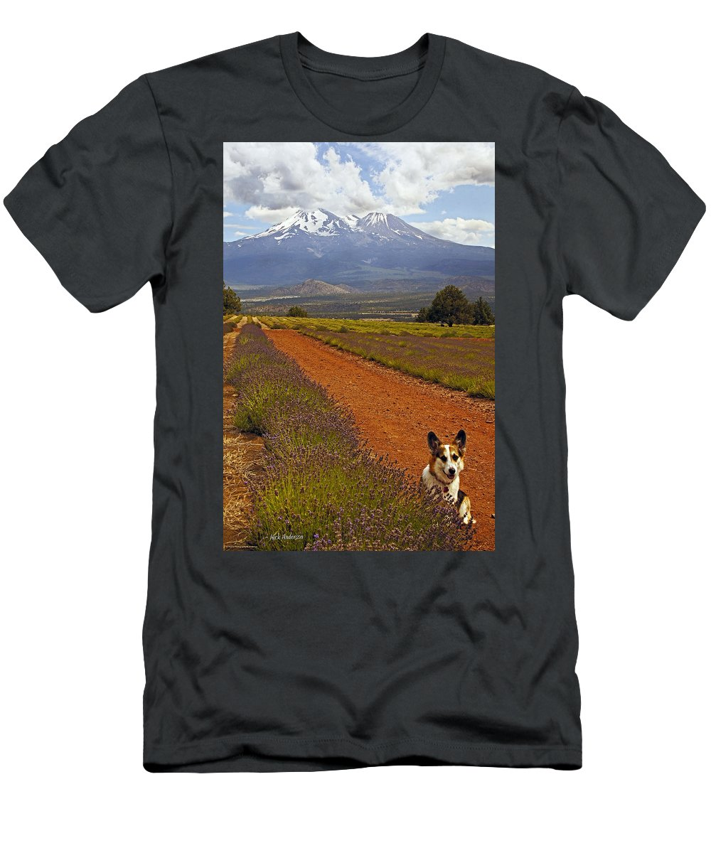 Johnny Men's T-Shirt (Athletic Fit) featuring the photograph Johnny And The Mountain by Mick Anderson