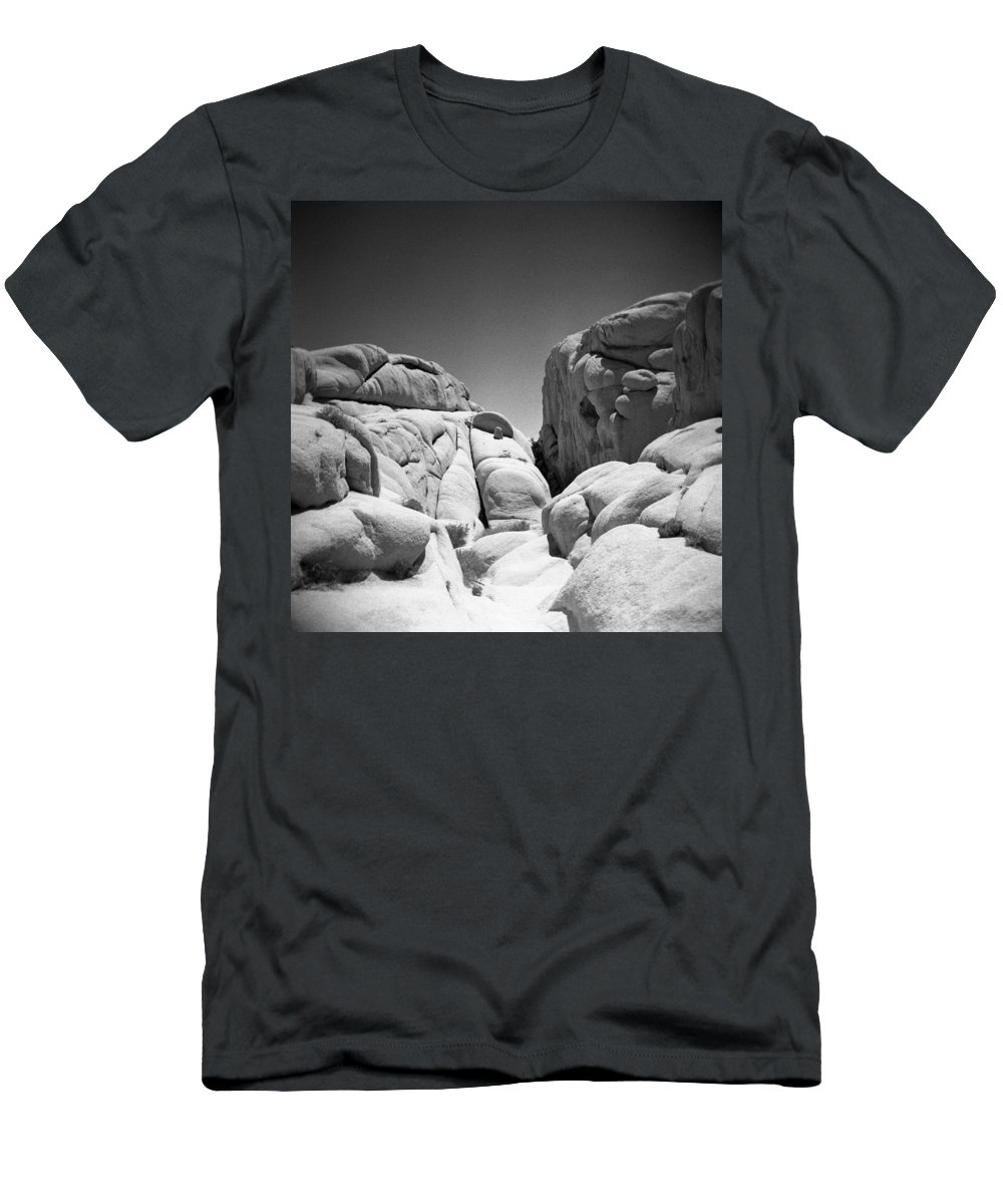 Joshua Tree Men's T-Shirt (Athletic Fit) featuring the photograph Joshua Tree Holga 2 by Alex Snay