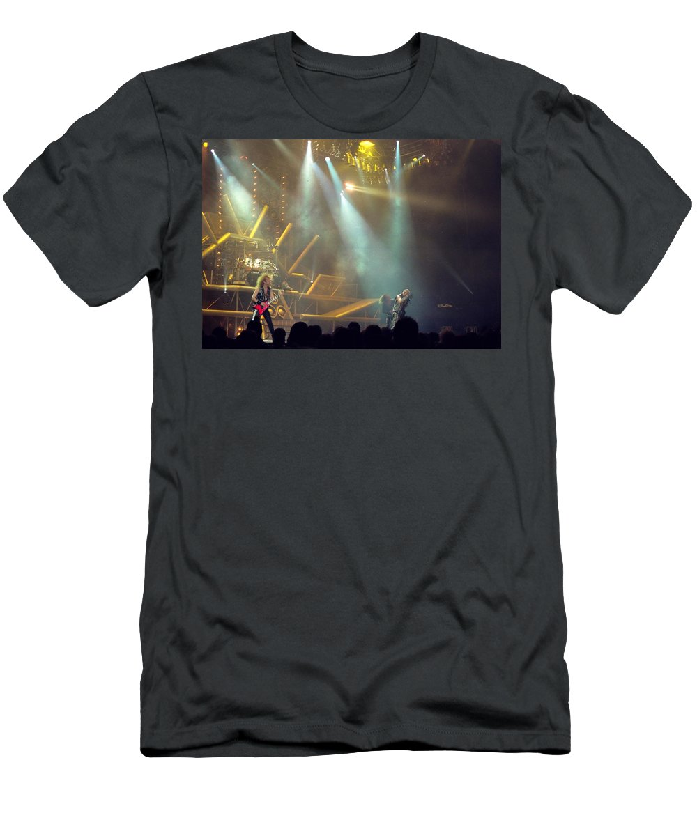 Judas Priest Men's T-Shirt (Athletic Fit) featuring the photograph Judas Priest by Sheryl Chapman Photography
