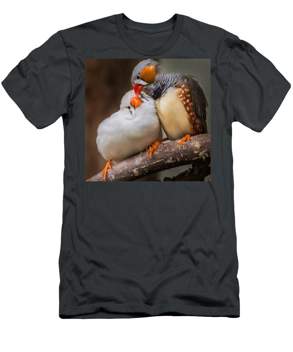 Bird Men's T-Shirt (Athletic Fit) featuring the photograph Just A Little Bit To The Left...ahhh by Garvin Hunter