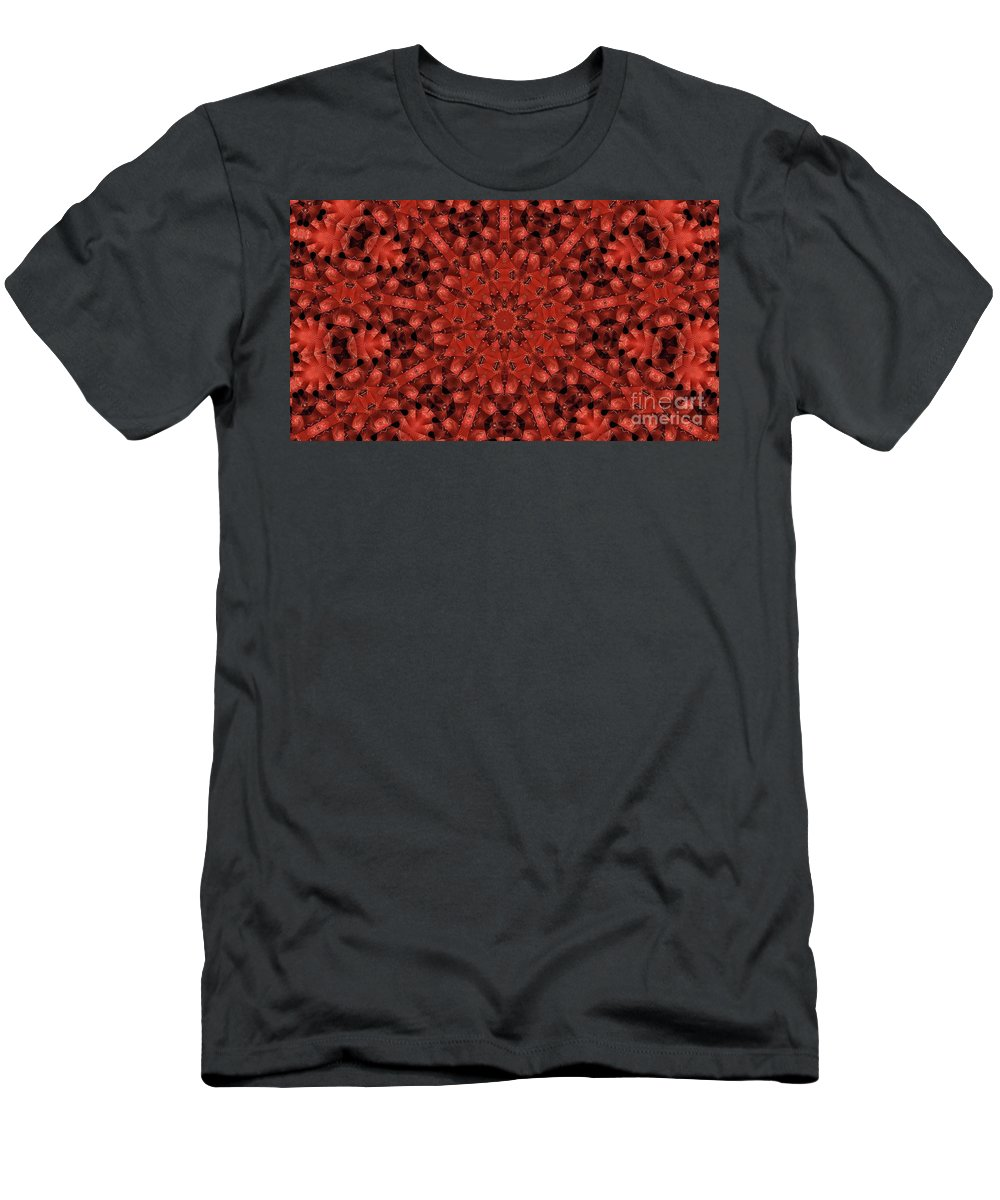 Kaleidoscope Men's T-Shirt (Athletic Fit) featuring the photograph Kaleidoscope 60 by Ron Bissett