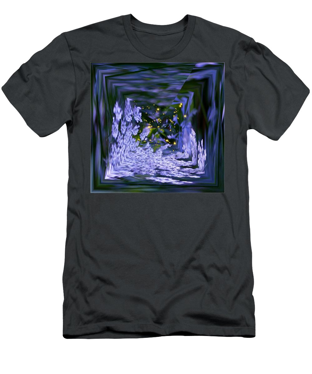Square Men's T-Shirt (Athletic Fit) featuring the photograph Kaleidoscope by Barbara S Nickerson