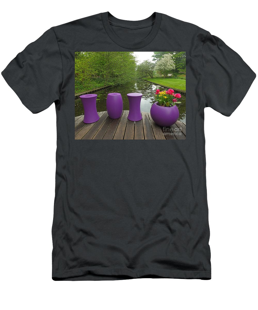 Keukenhof Gardens Men's T-Shirt (Athletic Fit) featuring the photograph Keukenhof Gardens 47 by Mike Nellums